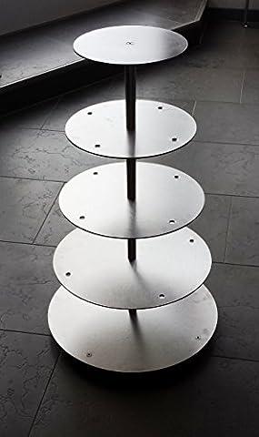Aluminium Tortenständer Rund Tortenetagere Hochzeit 5 Etagen Alu Ø 20 25 30 35 40 cm Etagere