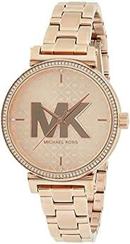ساعة مايكل كورس سوفي للنساء بمينا ذهبي وردي ستانلس ستيل انالوج - MK4335