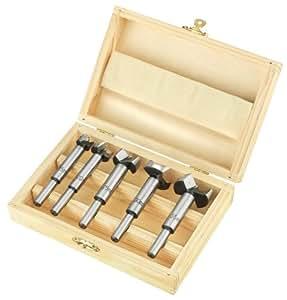 CON:P BP302505, Set di punte in una pratica cassetta di legno, 5 pz.