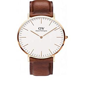Daniel Wellington Classic St Mawes Rose Men's Quartz Watch with White Dial Analogue Display and Brown Leather Strap 0106DW (B00BKQT5RC) | Amazon Products