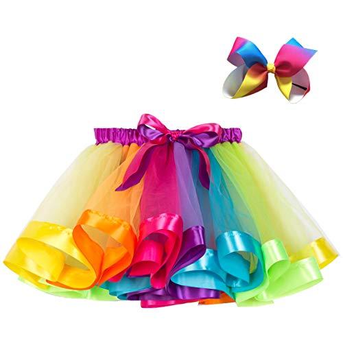 Mini Pferd Kostüm - FStory&Winyee Baby Mädchen Tutu Rock Regenbogen