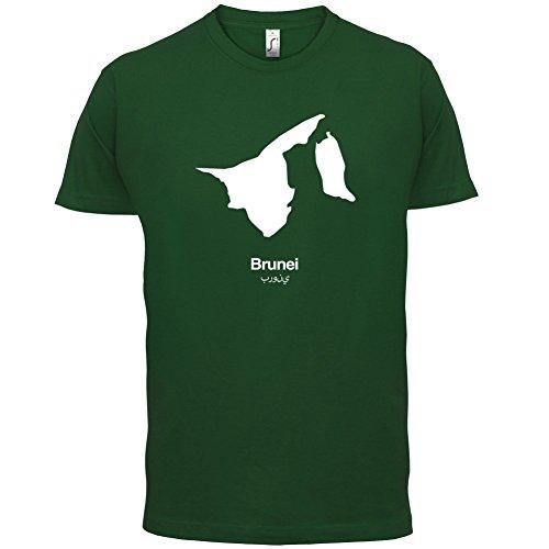 Brunei Silhouette - Herren T-Shirt - 13 Farben Flaschengrün