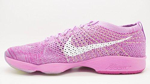 Nike Damen Wmns Flyknit Zoom Agility Turnschuhe, Talla fchs glow/white-fchs flsh-vlt