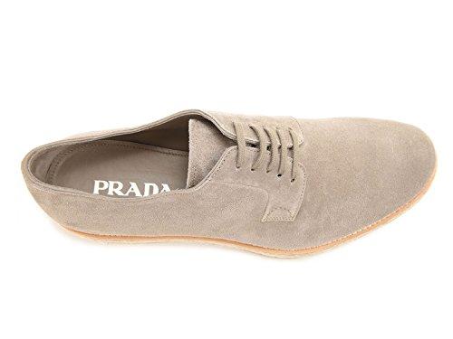 Derbies Prada homme en peau Retournée Pierre - Code modèle: 2EG113 054 F0193 Pierre