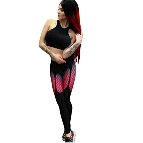 Leggings Hose Damen Sporthosen Yogahosen Gym Workout Leggings 3D Mesh Drucken Sport Running Mittlere Taille Pants Dünne Hosen Sexy Trainingshose,ABsoar (M, Schwarz)