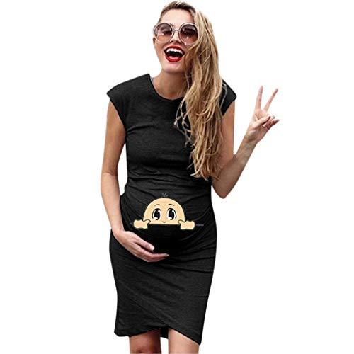 Snakell Umstandskleider Damen Mutterschafts Kleid Umstands Kleid Stillkleid Damen Umstandskleid Maternity Kleid Umstandsmode Günstig Schwangerschaftskleid Kurzarm Sommerkleider Knielang ... (Cocktail-kleid Mutterschaft)