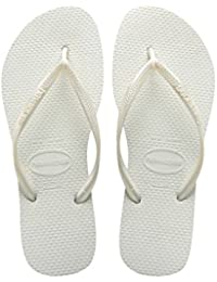 Havaianas Damen Spring Zehentrenner, Weiß (White/Silver/Blue), 43/44 EU