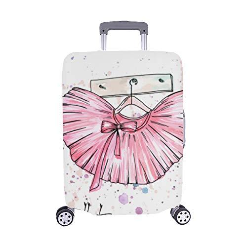 (Nur abdecken) Handgezeichnete Ballett Spitzenschuhe Muster Staubschutz Trolley Protector case Reisegepäck Beschützer Koffer Cover 28,5 X 20,5 Zoll