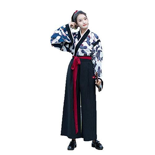 YCWY Frauen Alten Chinesischen kostüm, Vintage Chinesischen Kleid für Party Urlaub, Foto schießen Tang Anzug Cosplay Kostüme Fliegenden kran Druck,M -