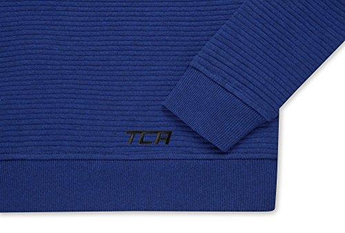 TCA Femme Force Pull à Manches Longues / Sweat Ras du Cou avec Poche Zippée Bleu