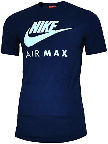 NEU Nike Herren Markenzeichen Designer Fitness Gym Rundhals Air Max T-shirt S-2XL - Herren, Marine, L -