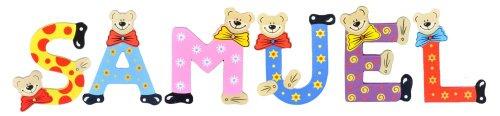 Playshoes Kinder Holz-Buchstaben Namen-Set SAMUEL - sortiert
