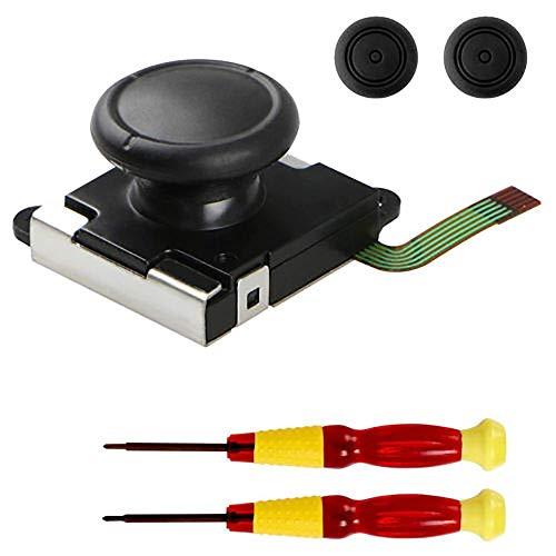 Merssavo Manette de joystick analogique avec poignée et tournevis cruciforme et 2 bouchons de guidon
