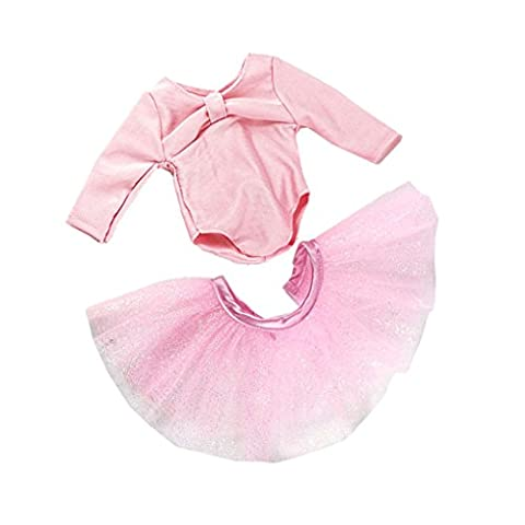 MagiDeal Skinny Ballet Dance Suit Skirt Dress Clothes for 18 inch American Girl Dolls