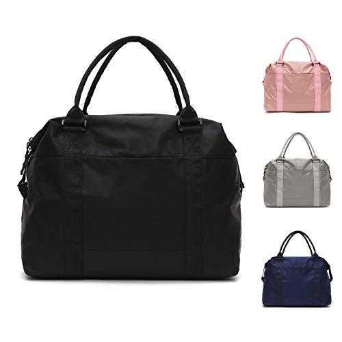 FEDUAN original Shopping-Bag Reisetasche Sporttasche faltbar wasserfest groß leicht Handgepäck Weekender Handtasche Einkaufstasche Freizeit-Tasche Damen Einkaufen schwarz