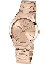 Jacques Lemans Damen-Armbanduhr Rome Analog Quarz Edelstahl beschichtet 1-1840H
