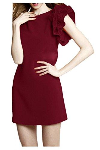 Sunvary spalle, con parte posteriore aperta, in Chiffon, e paillettes, per damigella d'onore, Prom Dress-Gowns Blu