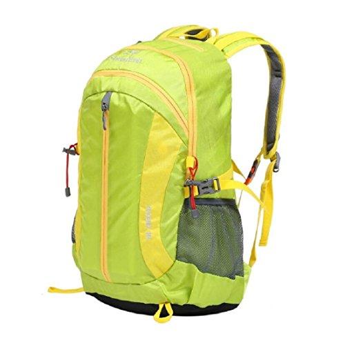 LF&F Backpack Camping outdoor Zaini Borse Zaino da viaggio per il tempo libero all'aperto capacità 30L anti-strappo maschio e femmina generale alpinismo all'aperto equitazione zaino da campeggio black green