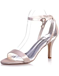 Zapatos De Mujer Satin Stiletto Talón Open Toe Sandalias Boda/Parte &Amp; Noche Zapatos Más Colores Disponibles Champagne Us9 / Ue40 / Uk7 / Cn41
