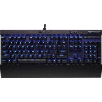 Corsair CH-9101030-DE K70 LUX Mechanische Gaming Tastatur (mit Cherry MX Red Tasten, roter LED Beleuchtung und ergonomischen Design mit Handballenauflage, QWERTZ-Layout) (Corsair Vengeance K70 Cherry Mx Red Switches)