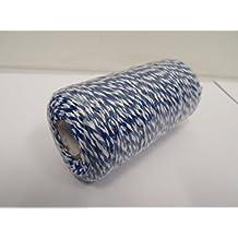 Beautiful Ribbon 2 Metros x 2mm Bakers Twine Cuerda SOGA Cuerda Hilo Blanco y Rojo Raya carnicer/ía de 2 mm