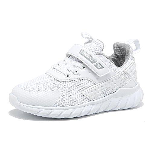 Sneakers Bambini Ragazzi Scarpe Sportive Ragazze da Interno Scarpe da Corsa per Bambini Unisex Bianca 30 EU