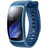 Samsung SM-R3600ZBNXEF Gear Fit - Bbrazalete de fitness con GPS (2 unidades, tamaño: S), color azul