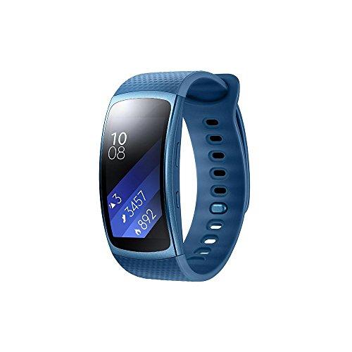 Samsung Gear Fit 2 Smartwatch, Display SuperAMOLED, Blu [Versione Italiana]