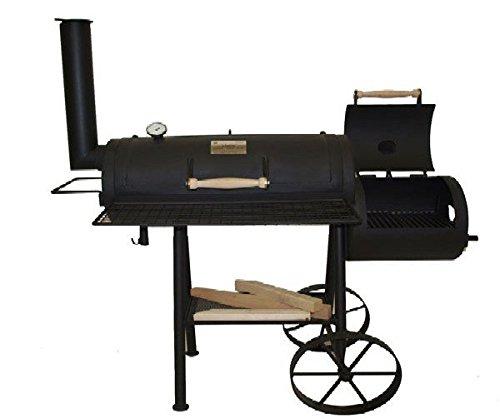 myowngreen Smoker 13″ aus 4 mm Stahlblech, mit Kochplatte und Aufnahme für Grillspieß