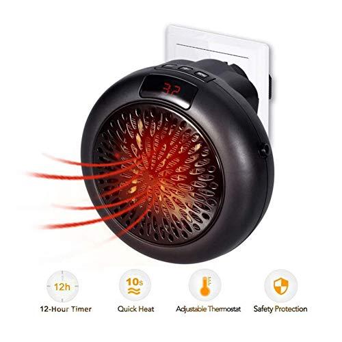 Radiateurs électriques CJC Électrique Chauffe-Eau Mini Ventilateur Portable Céramique 1000W Intérieur Ajustable Thermostat Timing Une Fonction LED Afficher