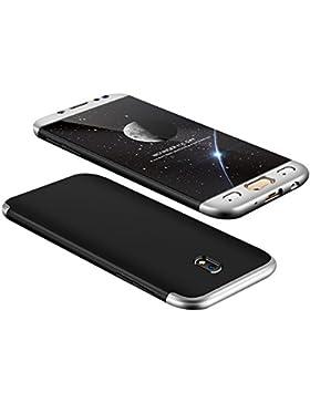 Funda Samsung Galaxy J5 2017 3-en-1 PC 360° Protectora Carcasa Ultra Delgado Choque Absorción Anti-Arañazos Caso...