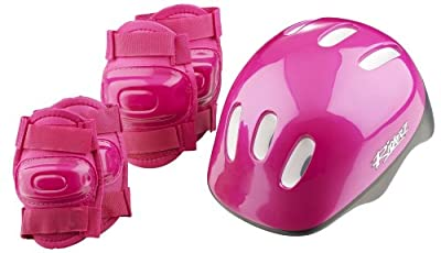 Girls' Bike Helmet and Pads Set by Riderz by Riderz