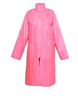 Krystle Stylish Pink Women's Raincoat with Hidden Collar Pocket for Cap