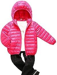 b212b34f69 Aden Kinder Steppjacke mit Kapuze Daunenjacke Leicht Übergangsjacke Herbst  Winter Jacket Wintermantel Mantel Outerwear