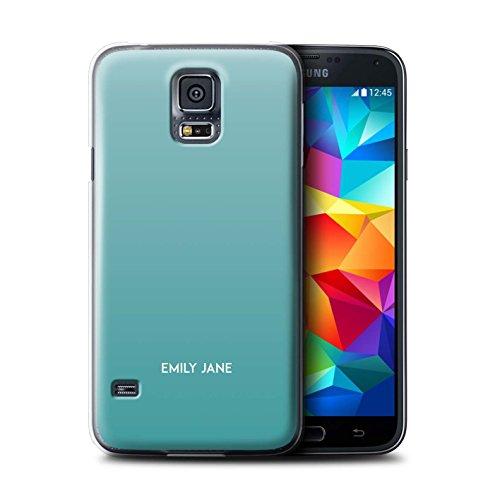 Stuff4 Personalizzato Colori Personalizzati Ombre Custodia/Cover per Samsung Galaxy S5 Neo/G903 / Teal Ombra Design/Iniziale/Nome/Testo Caso/Cassa