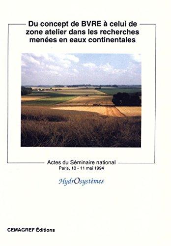 Couverture du livre Du concept de BVRE à celui de zone atelier dans les recherches menées en eaux continentales