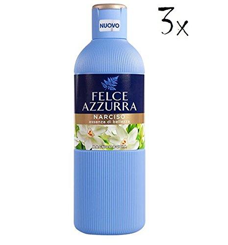 3x Felce Azzurra Narciso Badeschaum Schaumbad Dusche Schaum bath foam 650ml