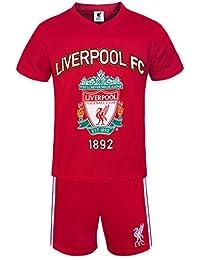 Liverpool FC Official Football Gift Boys Short Pyjamas