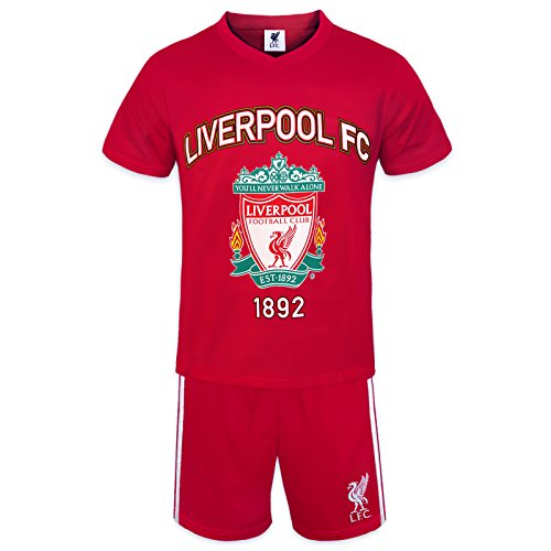Liverpool FC Official Football Gift Boys Short Pyjamas Red 8-9 Years