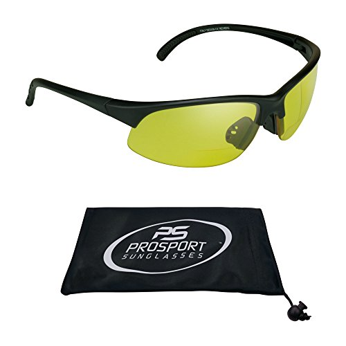 proSPORTsunglasses Semi Randlos Blau Blocker Hd-Vision-Bifocal Sonnenbrillen (2.00) Herren Gelb