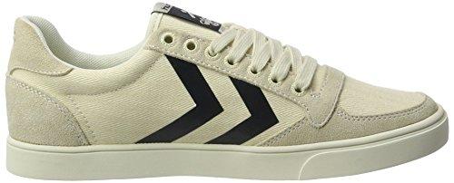 Hummel Sl. Stadil Herringbone Low, Sneakers Basses Femme Blanc (Pristine White)
