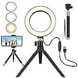 Luce ad Anello LED, 6' Ring Light Lampada Estetista 3 modalità...