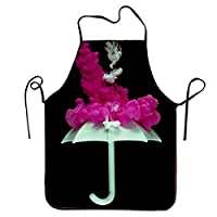 HTHYTJC Unisex Waterproof Aprons Smoke Umbrella Kitchen Apron with Adjustable Strap for Cooking Gardening