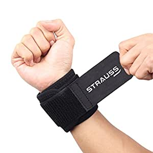 Strauss Wrist Support, Free Size (Black)