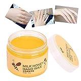 Handpeeling-Maske, Entfernen Sie abgestorbene Hautpflege Handpflege Honig Feuchtigkeitsspendende Verjüngungshand Peeling-Maske 150g