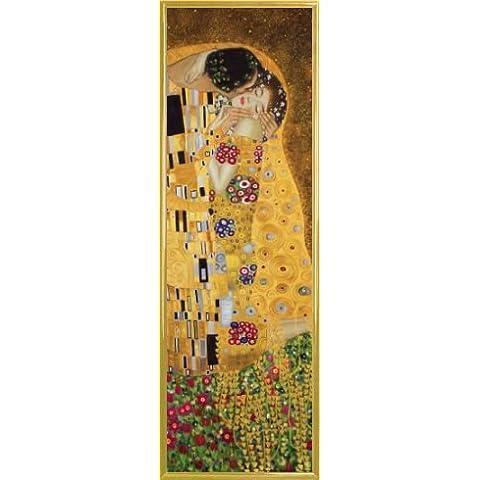 Gustav Klimt Póster Impresión Artística con Marco (Plástico) - El Beso II (91 x 30cm)