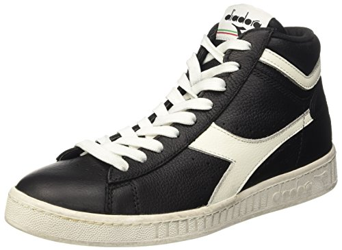 Diadora Game L High Waxed, Pompes à Plateforme Plate Mixte Adulte Noir (Nero/bianco Nuvola)
