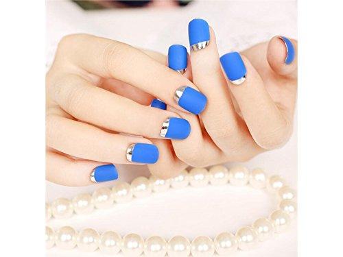 À la mode Lady Style français de style manucure bricolage femme conseils faux ongles (bleu royal) Ornement des ongles