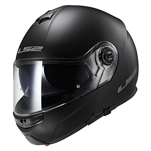 LS2 503251011L FF325 Casco Strobe Solid, Color Negro Mate, Tamaño L