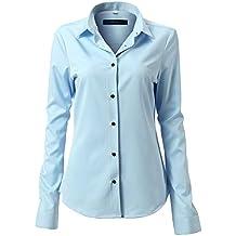 quality design ace3d 730ee Camicia donna celeste - Amazon.it